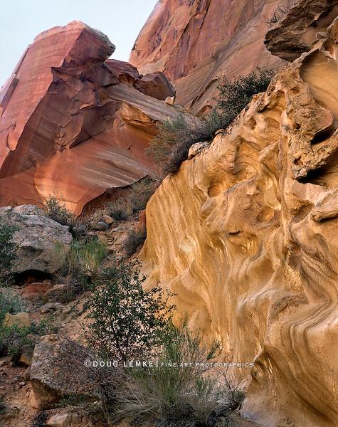 Interesting Rock Forms, Capitol Reef National Park, Utah