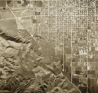 historical aerial photograph Pomona, Los Angeles county, California, 1946