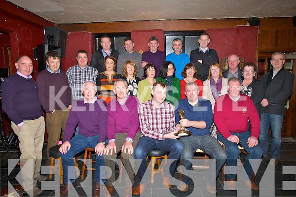 GOLF: JJ McElligott capt of Kilmoyley Golfing Society who presented the player of the year to Berth Sheehy at the Kilmoyley Golf prize presentation at The Abbey Tavern, Ardfert on Saturday night.