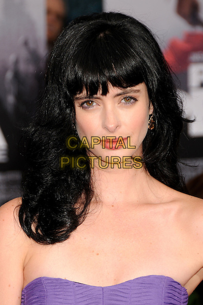 "KRYSTEN RITTER.""Prince Of Persia: The Sands Of Time"" Los Angeles Premiere held at Grauman's Chinese Theatre, Hollywood, California, USA..May 17th, 2010.headshot portrait purple strapless fringe bangs kristen .CAP/ADM/BP.©Byron Purvis/AdMedia/Capital Pictures."