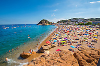 Spain, Costa Brava, Catalonia, Tossa de Mar. Beaches.
