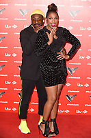 "Will.i.am and Jennifer Hudson<br /> at the launch photocall for the 2019 series of ""The Voice"" London<br /> <br /> ©Ash Knotek  D3468  03/01/2019"