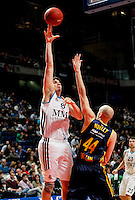 Real Madrid's Carlos Suarez  and Alba Berlin's Zach Morley  during Euroleague 2012/2013 match.February 22,2013. (ALTERPHOTOS/Javier Lopez) /NortePhoto