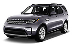 2017 Land Rover Discovery HSE 5 Door SUV angular front stock photos of front three quarter view
