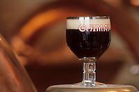 Europe/Belgique/Wallonie/Province de Hainaut/Env de Chimay : Abbaye de Scourmont - Verre de bière- Bière Trappiste