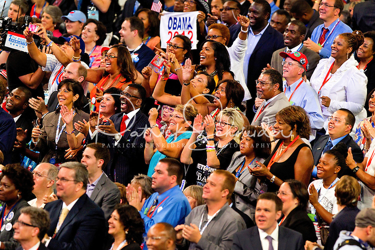 The 2012 Democratic National Convention at the Time Warner Center on  in Charlotte, North Carolina.