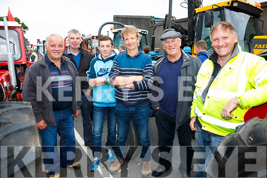 Pictured at the Sean Ó Sé Memorial Tractor Run in Cahersiveen on Sunday were l-r; Paudie Curran, John O'Sullivan, Gavin Reardon, Michael Reardon, Timmy O'Sullivan & Patrick Donnelly.