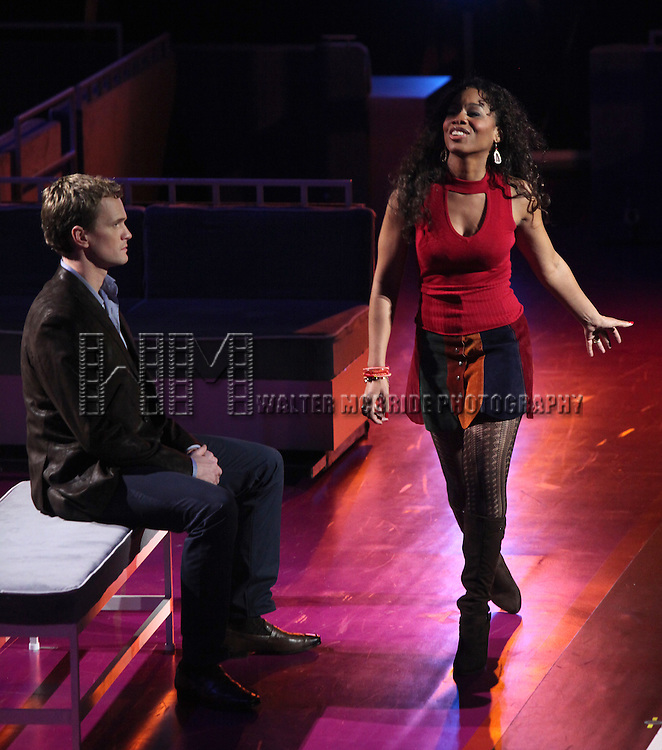 Neil Patrick Harris & Anika Noni Rose.performing in the New York Philharmonic presentation of Stephen Sondheim's 'Company', A Spring Gala Benefit  in New York City.