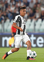 Calcio, Champions League: Juventus vs Siviglia: Torino, Juventus Stadium, 14 settembre 2016. <br /> Juventus&rsquo; Paulo Dybala in action during the Champions League Group H football match between Juventus and Sevilla at Turin's Juventus Stadium, 16 September 2016.<br /> UPDATE IMAGES PRESS/Isabella Bonotto
