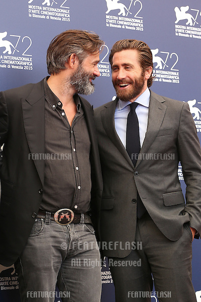 Balthasar Kormakur &amp; Jake Gyllenhaal at the photocall for Everest at the 2015 Venice Film Festival.<br /> September 02, 2015  Venice, Italy<br /> Picture: Kristina Afanasyeva / Featureflash