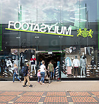 Footasylum shop store pedestrianised central business district, The Parade, Swindon, Wiltshire, England, UK