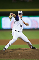 Winston-Salem Dash relief pitcher Brian Clark (26) in action against the Myrtle Beach Pelicans at BB&T Ballpark on September 9, 2015 in Winston-Salem, North Carolina.  The Dash defeated the Pelicans 4-2 to take a 1-0 lead in the best of 3 series. (Brian Westerholt/Four Seam Images)