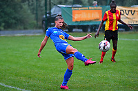 20200819, Sint-Amandsberg , GENT , BELGIUM : Gent's midfielder Lyndsey Van Belle (28) pictured during a friendly soccer game between KAA Gent ladies and RC Lens ladies in the preparations for the coming season 2020 - 2021 of Belgian Women's SuperLeague and French second division , Wednesday 19 th of August 2020 in JAGO Sint-Amandsberg / Gent, Belgium . PHOTO SPORTPIX.BE | STIJN AUDOOREN