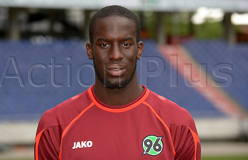 11.07.2013. Hannover, Germany.  Player Salif Sane of German Bundesliga club Hannover 96 during the official photocall for the season 2013-14 in the HDI Arena in Hannover (Lower Saxony).