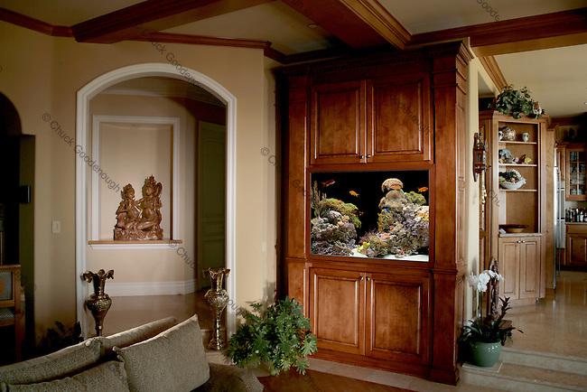 Freash Water Aquarium Installation just off the Kitchen