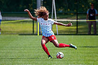 Kansas City, MO - Saturday September 9, 2017: Casey Short during a regular season National Women's Soccer League (NWSL) match between FC Kansas City and the Chicago Red Stars at Children's Mercy Victory Field.