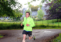7-6-2015: Roland Eager on his way to winning the first Killarney parkrun in Muckross, Killarney on Saturday.  The free weekly recreational runs which will now take place every Saturday morning throughout the year at 9.30am have been sweeping Ireland and Killarney is the 30th location in the country. Alan Ryan, Event Director said that &ldquo;All parkruns start at 9:30am in every location and are targeted at recreational runners.  In fact you can walk, jog, run, walk the dog or push a buggy.  It&rsquo;s what you make of it that counts and it&rsquo;s all very welcoming and friendly.  Killarney parkrun&rsquo;s starting point is within Muckross House Car Park, opposite the Muckross Traditional Farms.&rdquo; More information on www.parkrun.ie<br /> Picture by Don MacMonagle<br /> <br /> Repro free photo from Kerry County Council<br /> <br /> Further inforamtion from Cora Carrigg, Co-ordinator Kerry Recreation and Sports Partnership<br /> Email: cora.carrigg@kerrycoco.ie <br /> Phone: 066-7184776