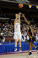 LOS ANGELES, CA - MARCH 13:  Mikaela Ruef during Stanford's 64-44 win over California in the Pac-10 Tournament at the Staples Center on March 13, 2010 in Los Angeles, California.