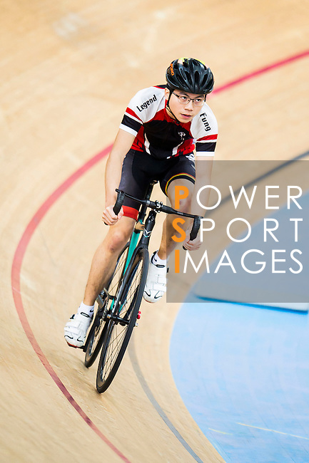 Tse Long Fung in action during the  Youth 11-13 1km Time Trial (Qualifying) at the Hong Kong Track Cycling Race 2017 Series 5 on 18 February 2017 at the Hong Kong Velodrome in Hong Kong, China. Photo by Marcio Rodrigo Machado / Power Sport Images