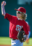 9 March 2014: Washington Nationals outfielder Jayson Werth's son, Jackson Werth participates in batting practice prior to a Spring Training game against the St. Louis Cardinals at Space Coast Stadium in Viera, Florida. The Nationals defeated the Cardinals 11-1 in Grapefruit League play. Mandatory Credit: Ed Wolfstein Photo *** RAW (NEF) Image File Available ***