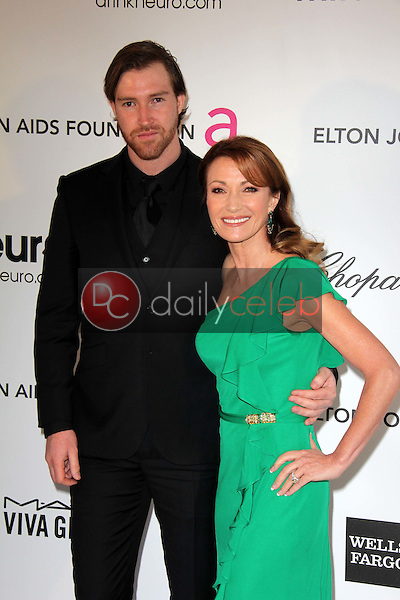 Jane Seymour and son<br /> at the Elton John Aids Foundation 21st Academy Awards Viewing Party, West Hollywood Park, West Hollywood, CA 02-24-13<br /> David Edwards/DailyCeleb.com 818-249-4998