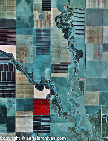 Color infrared aerial photograph fresno county near for Color fresno