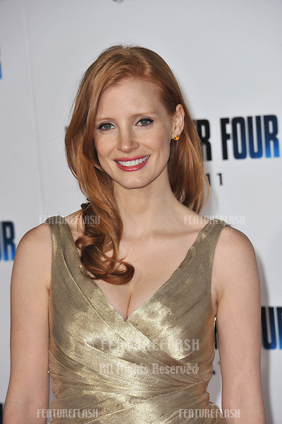 "Jessica Chastain at the world premiere of her new movie ""I Am Number Four"" at the Mann Village Theatre, Westwood..February 9, 2011  Los Angeles, CA.Picture: Paul Smith / Featureflash"