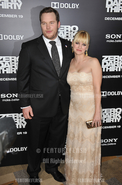 """Chris Pratt & wife Anna Faris at the premiere of his movie """"Zero Dark Thirty"""" at the Dolby Theatre, Hollywood..December 10, 2012  Los Angeles, CA.Picture: Paul Smith / Featureflash"""