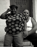 Junior and Maria, a Puertorican couple living on Boerum Street in East Williamsburg (Bushwick) Brooklyn, New York, Summer 2000