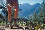 Hiking, Stehiken, Lake Chelan, the Cascade Mountains, Washington State, Pacific Northwest, USA,.