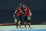 during Round Two of the 2018 NCAA Men's Tennis Championship at the Wake Forest Tennis Center on May 13, 2018 in Winston-Salem, North Carolina.  The Demon Deacons defeated the Gamecocks 4-1.  (Brian Westerholt/Sports On Film)
