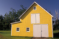 barn, Prince Edward Island, P.E.I., Canada, Yellow barn in King's County on Prince Edward Island.