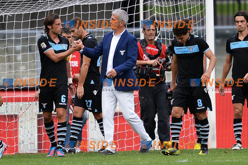 "Stefano Mauri e Vladimir Petkovic.Verona 16/9/2012 Stadio ""Bentegodi"".Football Calcio Serie A 2012/2013.Chievo Vs Lazio.Foto Andrea Staccioli Insidefoto"