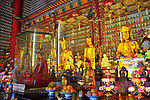 Main sanctum at the Ten Thousand Buddhas Monastery in Hong Kong.
