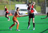 Canterbury v Midland women. 2019 National Hockey Under-18 Tournament at National Hockey Stadium in Wellington, New Zealand on Sunday, 7 July 2019. Photo: Dave Lintott / lintottphoto.co.nz