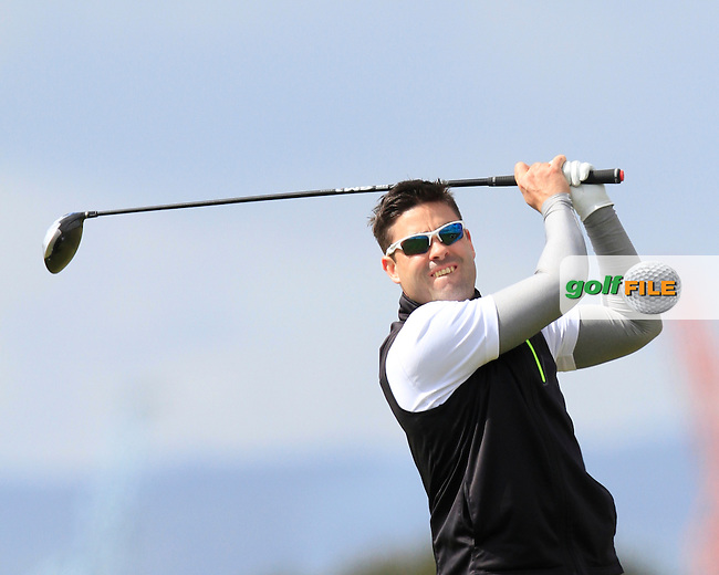 Sean Ryan (The Royal Dublin) on the 3rd tee during Round 1 of the Irish Amateur Open Championship at Royal Dublin on Thursday 7th May 2015.<br /> Picture:  Thos Caffrey / www.golffile.ie