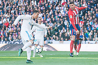 Real Madrid Cristiano Ronaldo and Atletico de Madrid Lucas Hernandez during La Liga match between Real Madrid and Atletico de Madrid at Santiago Bernabeu Stadium in Madrid, Spain. April 08, 2018. (ALTERPHOTOS/Borja B.Hojas) /NortePhoto NORTEPHOTOMEXICO