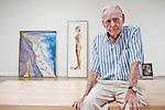 Wayne Thiebaud in his Sacramento, California gallery on September 9, 2010.