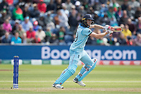 Chris Wakes (England) plays through the covers during England vs Bangladesh, ICC World Cup Cricket at Sophia Gardens Cardiff on 8th June 2019