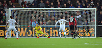 Lukasz Fabianski of Swansea (C) catches the ball during the Barclays Premier League match between Swansea City and Bournemouth at the Liberty Stadium, Swansea on November 21 2015