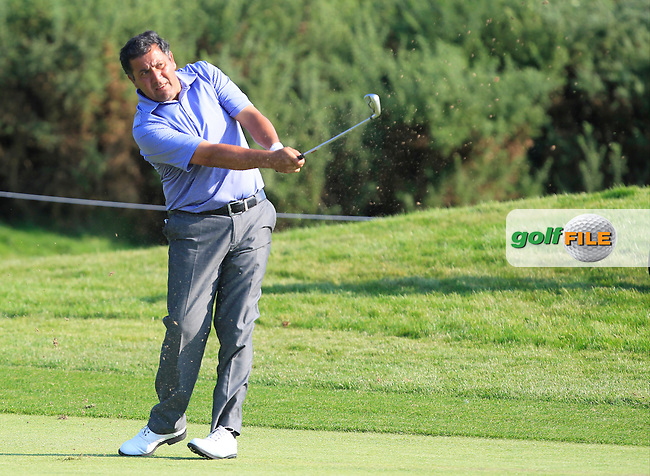 Ricardo Gonzalez (ARG) on the 1st fairway during Round 1 of the 2016 KLM Open at the Dutch Golf Club at Spijk in The Netherlands on Thursday 08/09/16.<br /> Picture: Thos Caffrey | Golffile