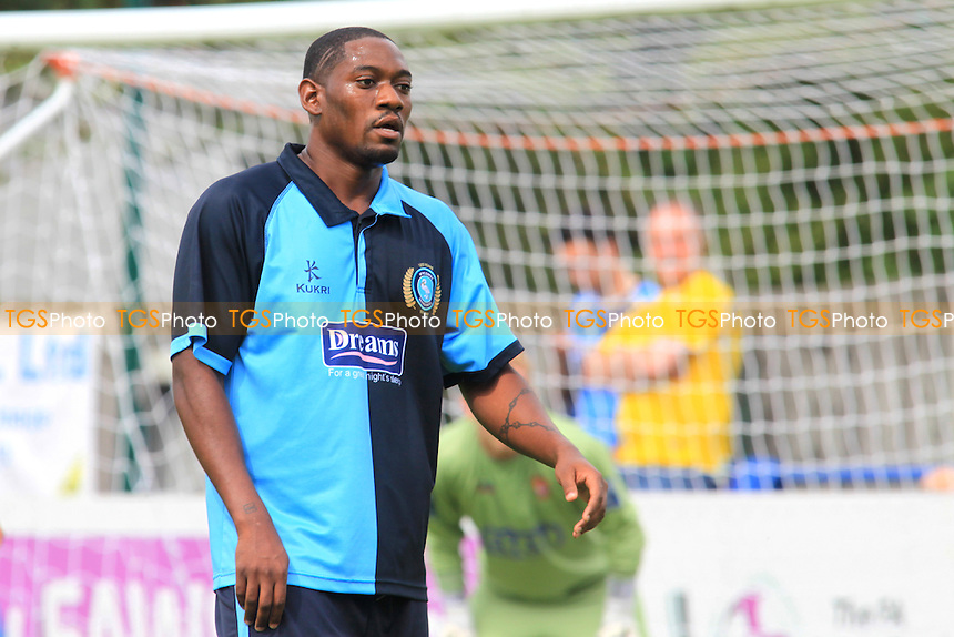 Dennis Oli of Wycombe Wanderers, a recent signing from Gillingham - Staines Town vs Wycombe Wanderers - Friendly Football Match at Wheatsheaf Park, Staines, Middlesex - 21/07/12 - MANDATORY CREDIT: Paul Dennis/TGSPHOTO - Self billing applies where appropriate - 0845 094 6026 - contact@tgsphoto.co.uk - NO UNPAID USE.