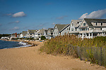 Madison Beach shore front with summer homes.