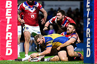 Picture by Alex Whitehead/SWpix.com - 17/03/2017 - Rugby League - Betfred Super League - Leeds Rhinos v Wakefield Trinity - Headingley Carnegie Stadium, Leeds, England - Leeds' Adam Cuthbertson scores a try.