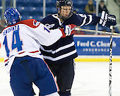 Joseph Pendenza (Lowell - 14), Blake Kessel (UNH - 20) - The visiting University of New Hampshire Wildcats defeated the University of Massachusetts-Lowell River Hawks 3-0 on Thursday, December 2, 2010, at Tsongas Arena in Lowell, Massachusetts.