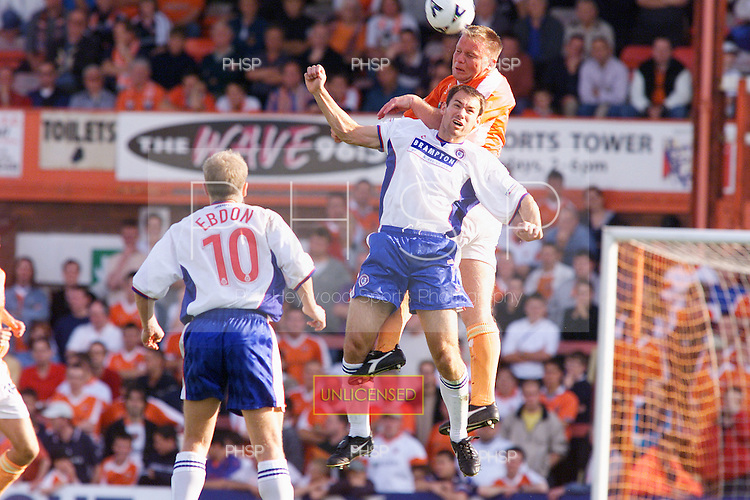 23/09/2000 Football League Division 3 Blackpool v Chesterfield<br /> <br /> 38269 Morrison header<br /> <br /> &copy; Phill Heywood