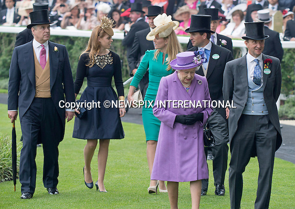 THE QUEEN and members of THE ROYAL FAMILY<br /> attend the Royal Meeting at Ascot on Ladies Day, Ascot Racecourse, Ascot_20/06/2013<br /> Mandatory Credit Photo: &copy;Dias/NEWSPIX INTERNATIONAL<br /> <br /> **ALL FEES PAYABLE TO: &quot;NEWSPIX INTERNATIONAL&quot;**<br /> <br /> IMMEDIATE CONFIRMATION OF USAGE REQUIRED:<br /> Newspix International, 31 Chinnery Hill, Bishop's Stortford, ENGLAND CM23 3PS<br /> Tel:+441279 324672  ; Fax: +441279656877<br /> Mobile:  07775681153<br /> e-mail: info@newspixinternational.co.uk