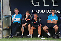 Chesterfield Manager, John Sheridan (far left) alongside Matt Crossley and Glynn Snodin during Bromley vs Chesterfield, Vanarama National League Football at the H2T Group Stadium on 7th September 2019