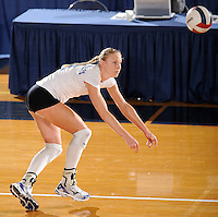 20 November 2008:  Middle Tennessee outside hitter Izabela Kozon (9) prepares to return the ball during the Middle Tennessee 3-0 victory over Arkansas State in the first round of the Sun Belt Conference Championship tournament at FIU Stadium in Miami, Florida.