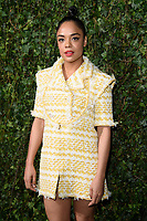 Tessa Thompson<br /> arriving for the 2018 Charles Finch & CHANEL Pre-Bafta party, Mark's Club Mayfair, London<br /> <br /> <br /> ©Ash Knotek  D3380  17/02/2018